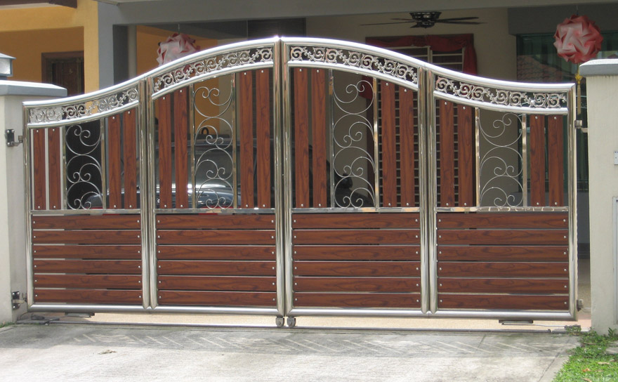 Driveway Gate Ideas | Modern & Contemporary on Gate Color Ideas  id=25819