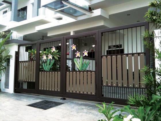 driveway gate ideas modern contemporary rh pacificgatesinc com