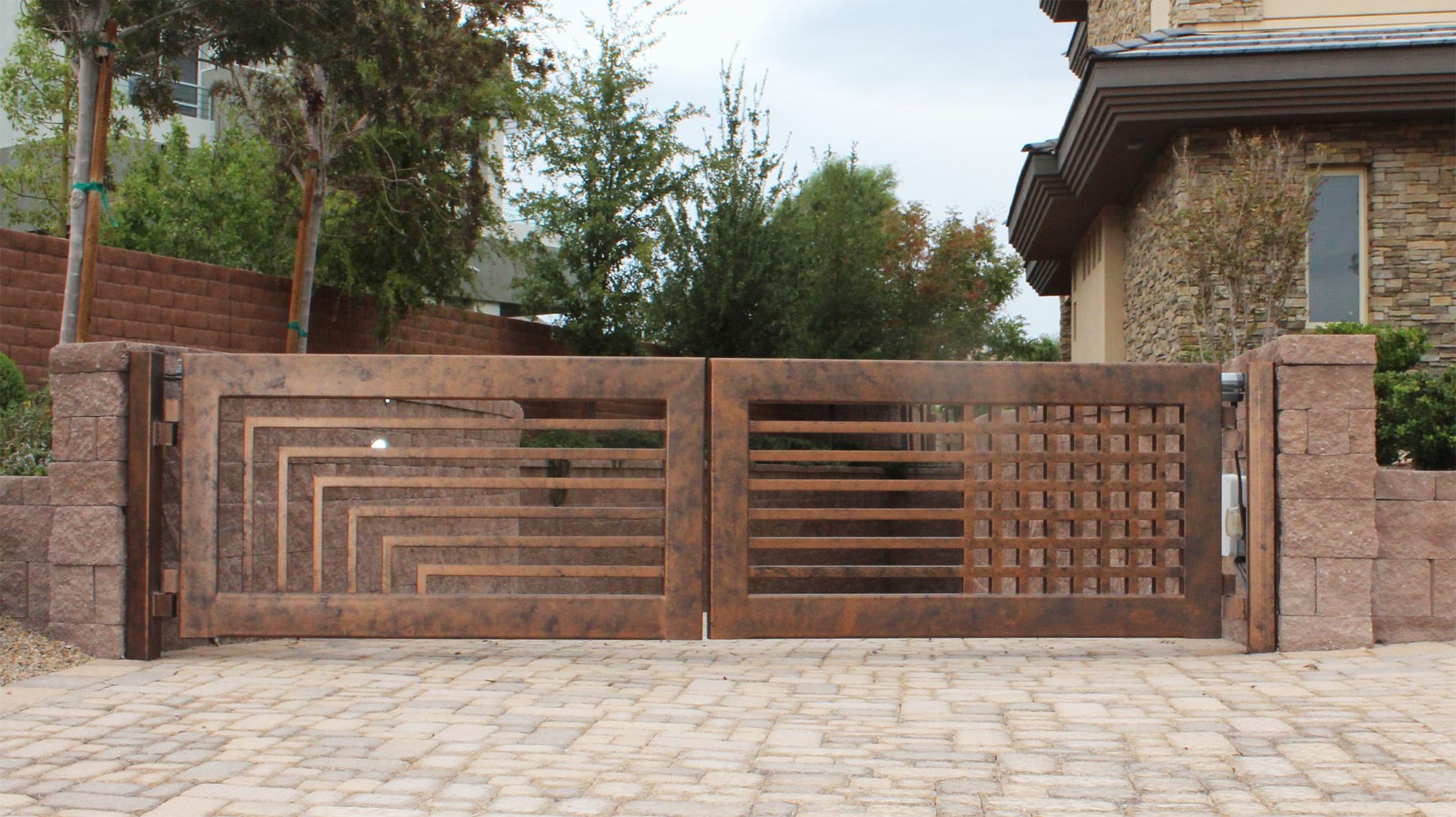Driveway gate ideas modern contemporary