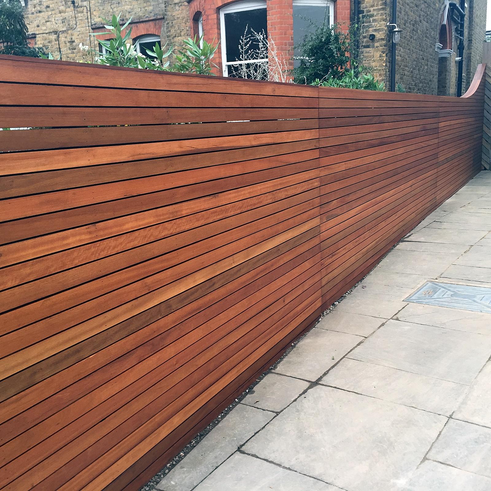 horizontal wood fence.  Fence Example Of Horizontal Wooden Driveway Gate With Horizontal Wood Fence