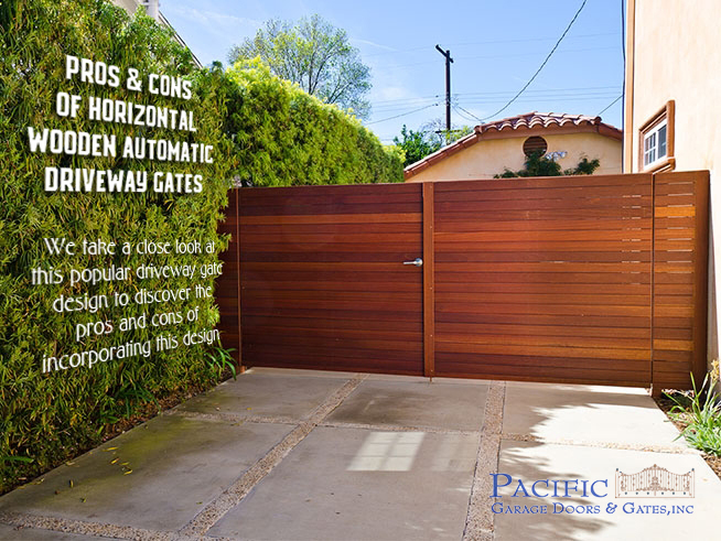 Pros and Cons of Horizontal Wood Driveway Gates